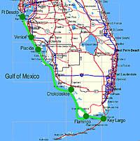 Everglades Challenge map