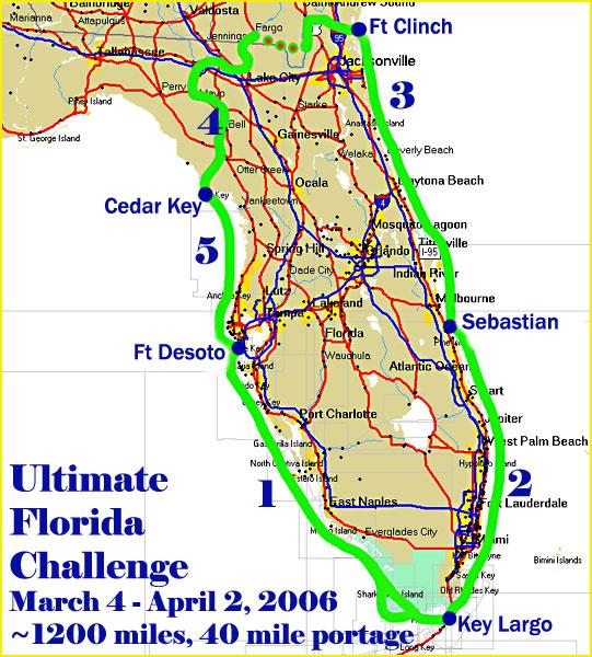 WaterTribe Ultimate Florida Challenge 2006: Fort Desoto - Key Largo - Sebastian - Fort Clinch - Cedar Key - Fort Desoto