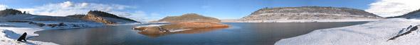 Horsetooth Reservoir panorama #2