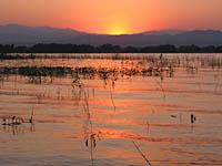 Boyd Lake at sunset
