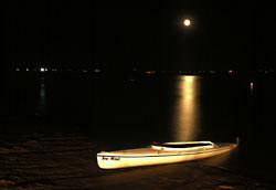 Boyd Lake at moonlight