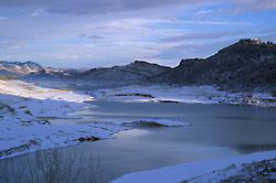 Horsetooth Reservoir - winter view