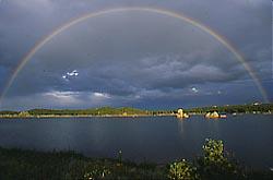 rainbow over Dowdy Lake