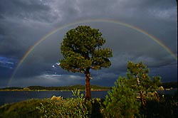 rainbow over Dowdy Lake