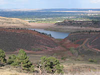 Horsetooth Reservoir from Stout Trail