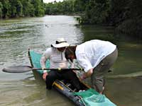 Spencer X-treme canoe in Texas Water Safari